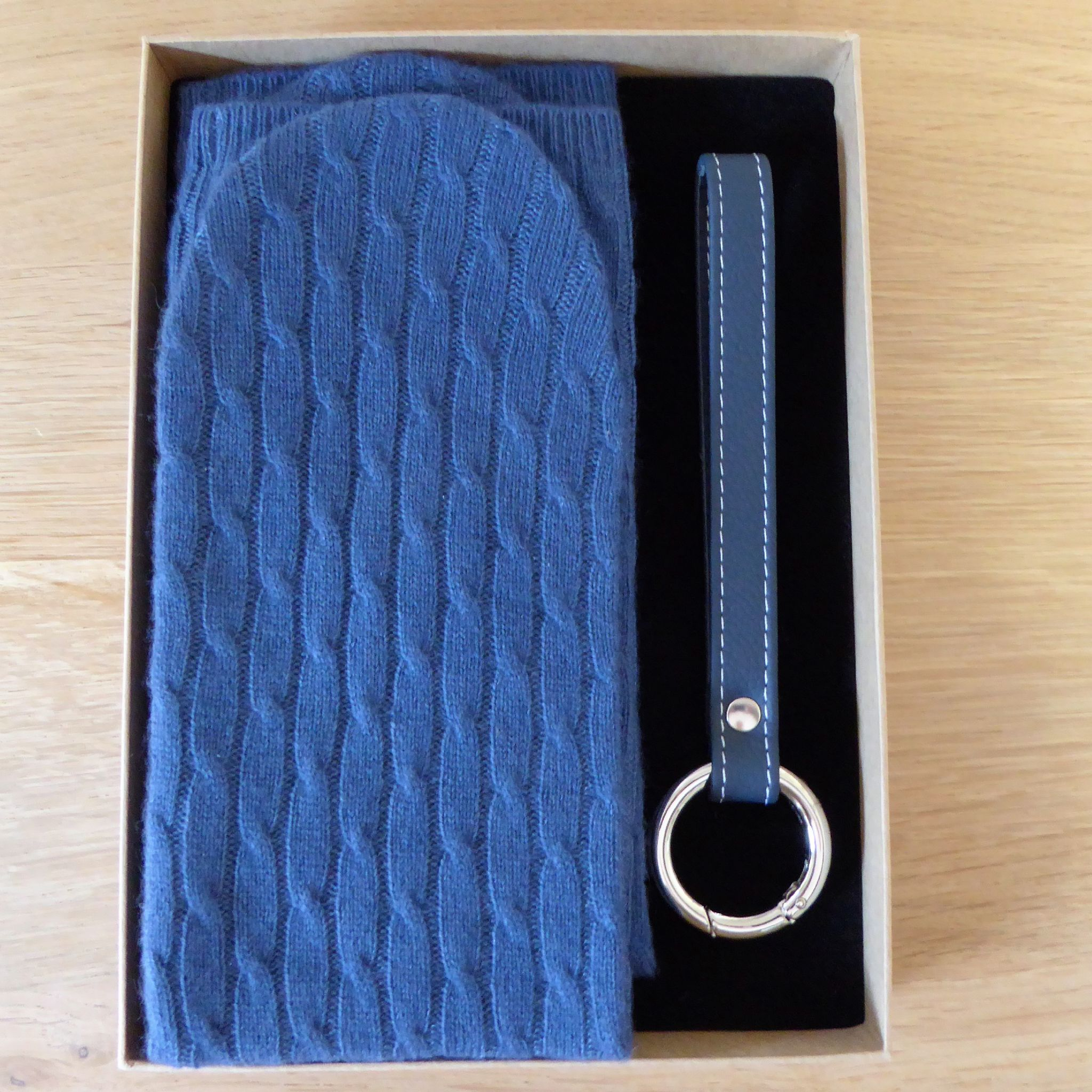 Cashmere Socks & Leather Travel Accessory Gift Set
