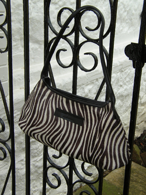 Zebra Print Shoulder Bag